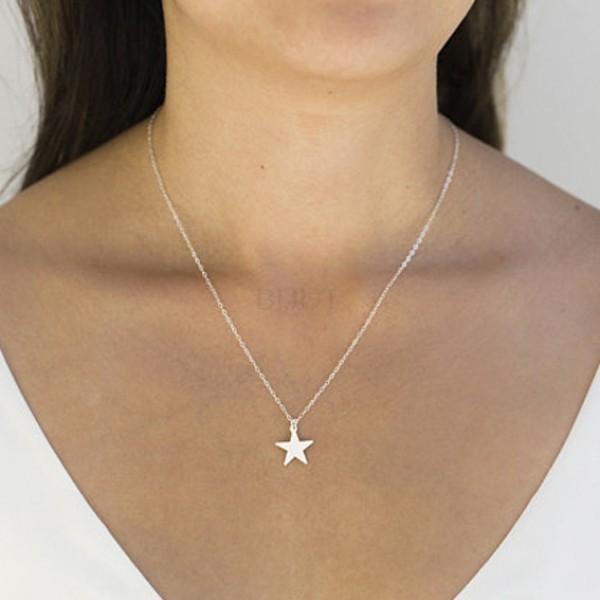 Colar Estrela Inoxidável
