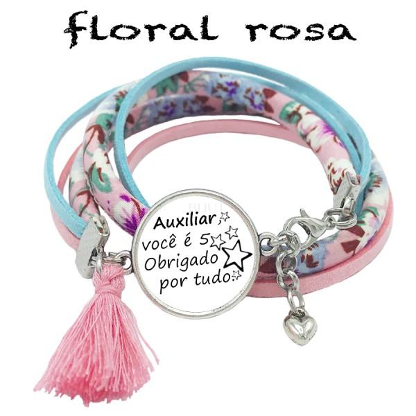 Pulseira Floral - Obrigada