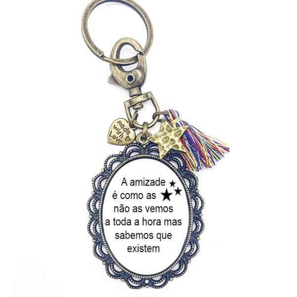 Porta-Chaves Vintage Personalizado - Amizade