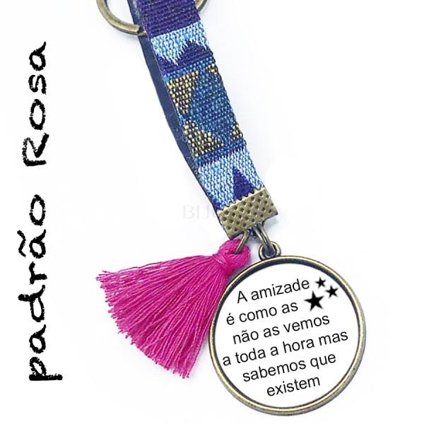 Porta Chaves Prateado - Amizade Estrelas