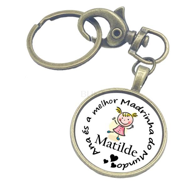 Porta-Chaves Personalizado - Madrinha