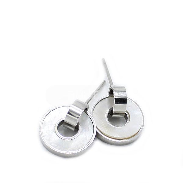 Brincos Madrepérola Silver